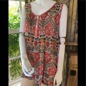 Boho plus sized top American Rag blouse size 3X